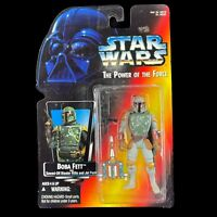 Boba Fett Action Figure Kenner Star Wars Red Card The Power of the Force 1995