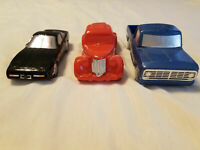 LOT Vintage AVON Glass Cars Mens After Shave Bottles Automobile Cologne Decanter