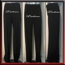 MEN'S LATIN SALSA (BALLROOM) COMPETITION PANTS SIZE S, M, L (B20B)