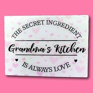 Secret Ingredient Chopping Board | Grandma Kitchen | Personalised Chopping Board