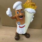 Pommes Tüte Fritten Mann Figur  Werbefigur Imbiss Werbeaufsteller G