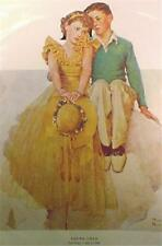 Norman Rockwell Young Love Print Boy & Girl Adorable Vintage Unframed
