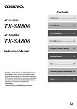 Onkyo Integra TX-SA806 Amplifier Owners Instruction Manual