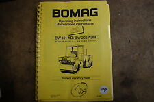 heavy equipment manuals for bomag compactor ebay rh ebay com BOMAG Plate Compactor BOMAG Compactor