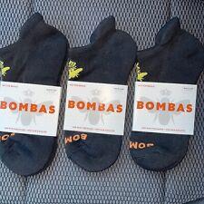 NEW 3 Pairs BOMBAS BLACK MEDIUM Ankle Socks BEE Unisex