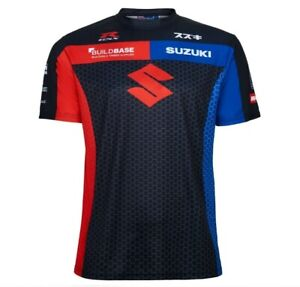 Suzuki GSXR MotoGP Racing Official Team T Shirt Printed BuildBase SuperBike BSB