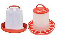 1.5 L Plastic Chicken Quail Poultry Chick Hen Drinker Food Feeder Waterer New