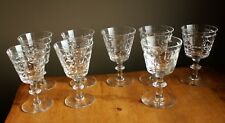 "8 Webb Corbett England ""Sir Philip"" Crystal stemware glasses 2 types"