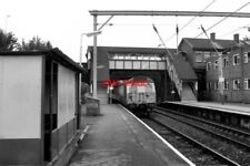 PHOTO  1990 DANE ROAD RAILWAY STATION THE UP TRAIN AT THE PLATFORM IS TRAVELLING