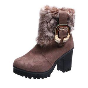 Botines De Mujer Botas Zapatos Gamuza Calzado Invierno Para Agua Y Nieve nuevo