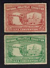 New listing 1929 National Philatelic Exhibition large souvenir Stamps – Minneapolis Mn