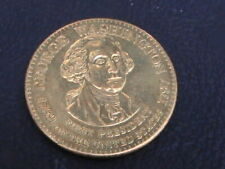 MEDAL GEORGE WASHINGTON 1789 -1797 1 ST PRESIDENT 1789-1797 BRASS COIN TOKEN