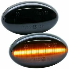 2 Repeater LED Smart Mcc Fortwo 450 1998-2007 Roadster Cut 452 Black