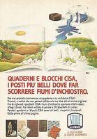 X0699 Quaderni e blocchi CISA - Pubblicità del 1987 - Vintage advertising