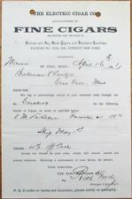Havana & Key West Cigars 1891 Letterhead/Receipt: Electric Cigar Co-St. Paul, MN