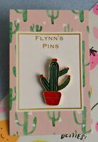 Cactus plant lover metal enamel lapel pin badge brooch garden gardener