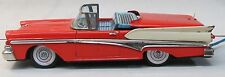 "Cragstan large 11"" 1958 FORD RETRACTABLE ROOF CAR battery operated tin litho"