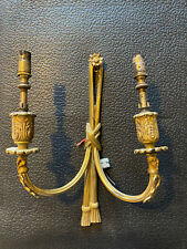4 x Antique 20th Century Vintage Wall Lights Brass Wall Chandeliers Rope Style