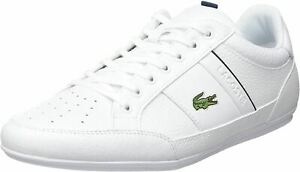 Lacoste Chaymon 0721 1 White Navy Leather Mens Trainers
