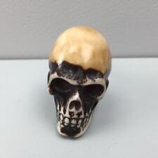 Nuevo Marrón Con Resina marfil detalle cráneo Tire del cajón puerta perilla Shabby Chic peculiar