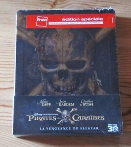 Pirates Of The Caribbean La Vengeance de Salazar Steelbook Blu-ray FNAC 3D/2D
