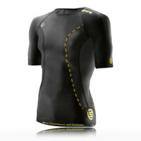 Skins Mens DNAmic Compression Short Sleeve Top Black Sports Gym Running