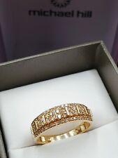 Michael  Hill 10ct Yellow Gold Diamond Ring 10K MHJ Size N1/2- 7