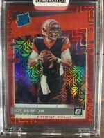 Joe Burrow Rated Rookie Football Card Red Mojo Prizm #151 Donruss Optic NFL RC