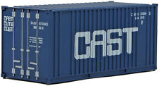 Walthers HO Scale 20' Flat Panel Shipping Intermodal Container CAST (Blue)