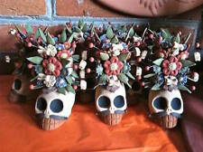 Dia de Los Muertos  Decorated Skull With Mustache