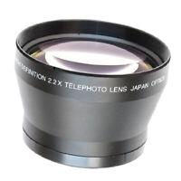 72mm 2.2x Telezoomobjektiv Telekonverter für Digitalkamera 18 200mm Universal
