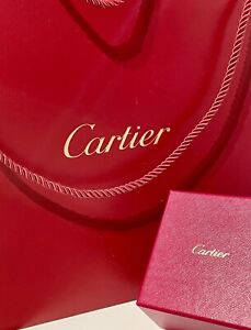 Cartier Inner & Outer Ring Box Set. Includes Ultra Size Cartier Gift Tote Bag.