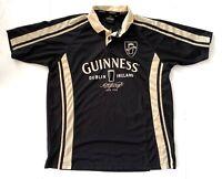 Official Guinness Beer Short Sleeve Rugby Polo Shirt Dublin Ireland Mens Medium