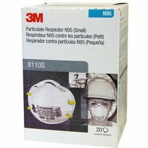3M 8110s N Grade 95 Expiry 2025 pack of 20  Made in USA