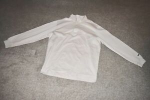 Nike Tiger Woods Golf Long Sleeve Jersey Cover Up Shirt Birch 358354 Size Large