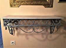 Console ancienne en fer forgé plateau en marbre