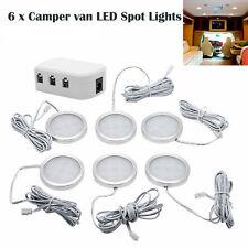 For VW T4 T5  Interior LED Spot Light 6X 12V Caravan Camper Motorhome Boat Light