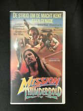 Mission Thunderbold Ex-Rental Vintage VHS Tape English with dutch subs