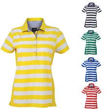 James & Nicholson Damen Kurzarm Polo T-Shirt verschiedene Farben und Gr.  S-XXL