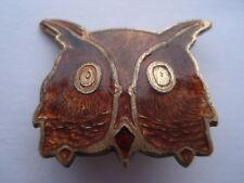 VINTAGE BROWN OWL LEADER BROWNIES ENAMEL PIN BADGE