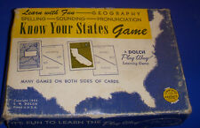 Know Your States Game 1955 Education Homeschool Geography Vintage