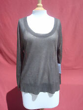 NWT Duffy Gold Viscose Polyester Women's Top Blouse Sz M