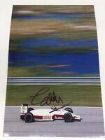 Selten Eddie Cheever F1 Unterzeichnet Foto + COA Autogramm Formel Eins