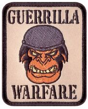 "Guerrilla Warfare 2.25"" x 3"" Hook Back Militar Air Soft Morale Patch Rothco73195"