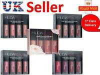 New Brand HUDA BEAUTY Matte Mini Liquid Lipstick Set 4 pcs -6 Shade UK Seller