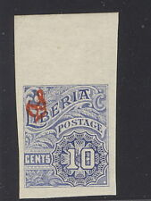 Liberia 1918, 10c numeral official, IMPERFORATE #O101