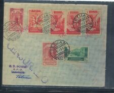 Spain   Morocco nice franking censor cover  1937 with special delivery stamp