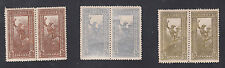 Greece # 176-78 MNH Pairs Same Perkins Bacon Center as Liberia 168/O103 Hermes