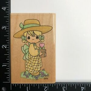 Stampendous Precious Moments Love Blooms UM007 Wood Mounted Rubber Stamp