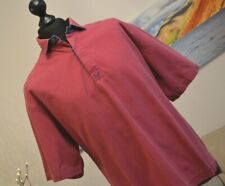 Crew Clothing Company Mens Vintage Pullover Shirt Top SS Red Cotton Sz. Large